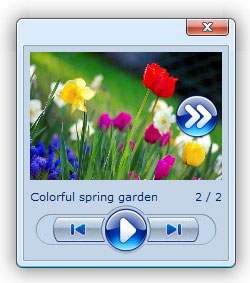 html popup window with menu Istockphoto Rotator