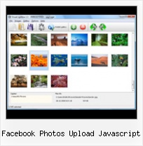 Facebook Photos Upload Javascript pop up menu in a layer