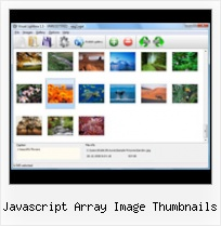 Javascript Array Image Thumbnails pop up on mouse over