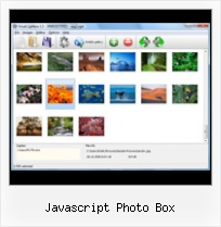 Javascript Photo Box slide menu on mouse event ajax