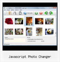 Javascript Photo Changer transparent popup box in javascript