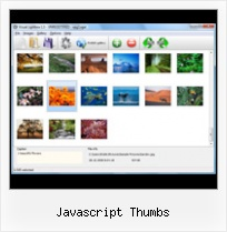Javascript Thumbs html popup text from external file