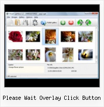 Please Wait Overlay Click Button add scrollbars to javascript onclick
