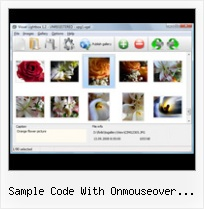 Sample Code With Onmouseover Changeimage windows popup in asp