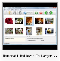 Thumbnail Rollover To Larger Image Example pop up box transparent shadow