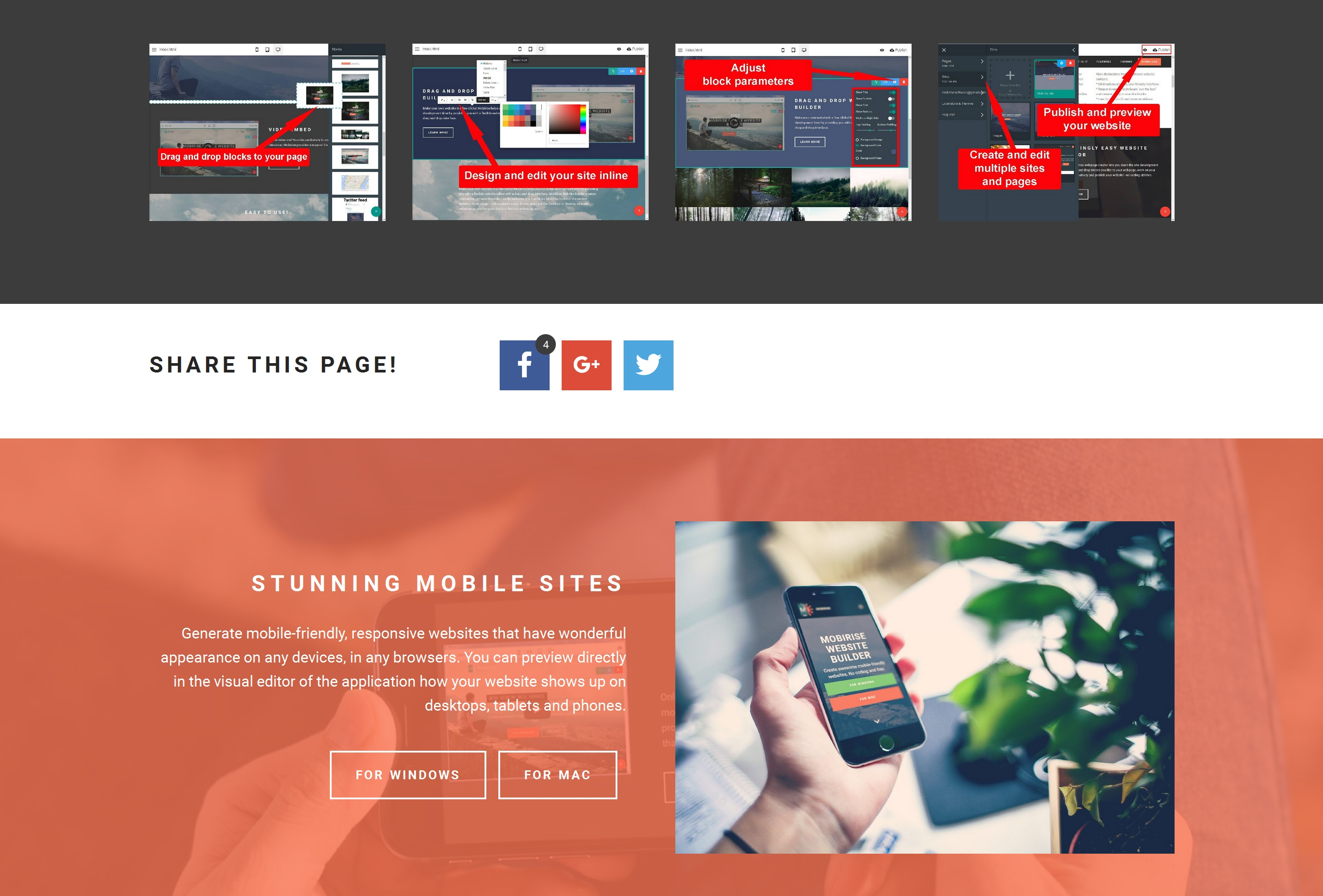 Mobile Easy Website Builder
