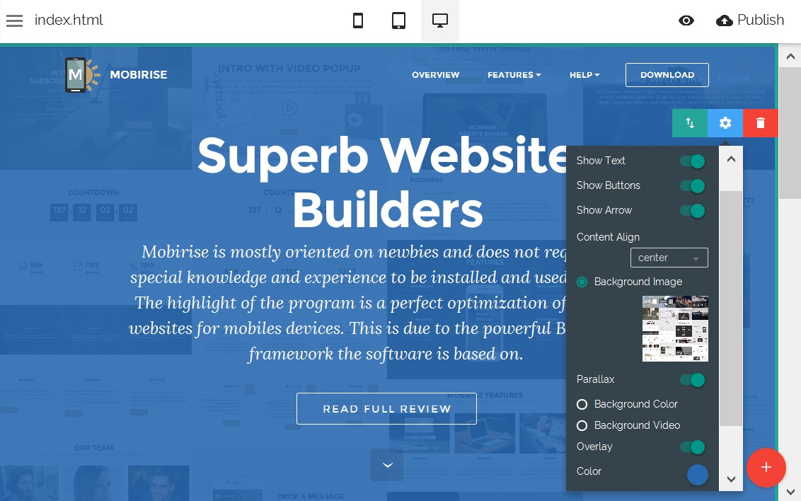 Bootstrap Web Editor